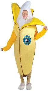Appealing Banana Peeling Fruit Food Funny Fancy Dress Halloween Child Costume