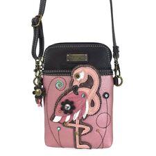 NWT CHALA PINK ROSE FLAMINGO BIRD CELL PHONE CROSSBODY PURSE ADJUSTABLE STRAP