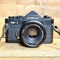 Cosina Pm-1 35mm SLR Film Camera W, Cosina 50mm F/2 Lens Retro Lomo! Student