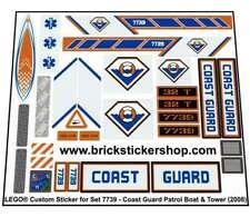 Replica Pre-Cut Sticker for Lego Set 7739 - Coast Guard Patrol Boat & Tower