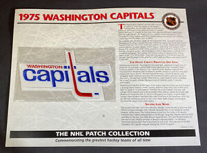 Willabee & Ward NHL Official Patch 1975 Washington Capitals