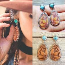 Charm Vintage 925 Silver Jewelry Turquoise Hook Earrings Dangle Ear Stud Boho