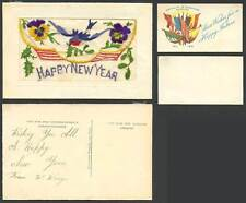 Best Wishes Embroidered Silk Collectable Greeting Postcards