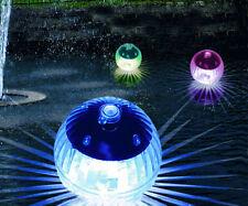 LED Solar Kugelleuchten 4er Set - Schwimmkugeln Kugelleuchte Teichbeleuchtung