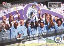 2018 Topps Now Premier League Manchester City Lift the Premier League Title #164