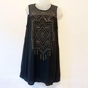 NWT Taylor & Sage Women Black Casual sleeveless Dress Size M