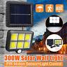 300W COB 124 LED Solar Wall Light PIR Motion Outdoor Garden Security Flood Lamp