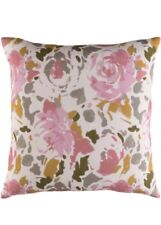"""NWT Surya Willow Floral Linen Pillow Cover 18X18"""""""