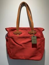 New! $195 RARE Filson Rugged Twill Limited Ed. Mackinaw Red tote bag Made In USA