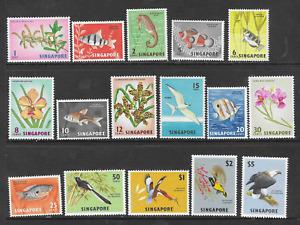 Singapore 1962 Orchids, Fish , Birds definitives MNH