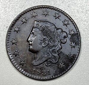1831 Coronet Head Large Cent 1C