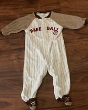 Carter's Old Time Moms Allstar  Baseball Footed Sleeper Size 6-9 Months