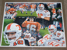 "Peyton Manning Original Artwork ""A True Volunteer"" Tennessee Vols Football L@@K"