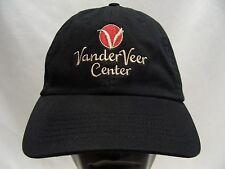 vanderveer Centro - Negro - Ajustable Tira Trasera Gorra sombrero