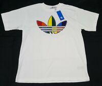 Adidas Originals Men's T-Shirt - White /Multicolor,  FT8538 Classic Logo