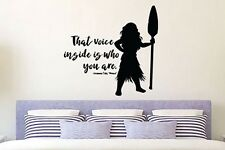 Inspired by Moana Wall Decal Sticker That Voice Inside Is Who You Are