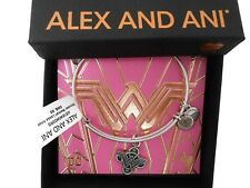 Alex and Ani Wonder Woman Lasso Knot Bangle Bracelet Rafaelian Silver