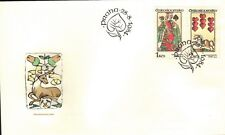 CZECHOSLOVAKIA 1984 3 FIRST DAY COVERS - PLAYING CARDS - ART