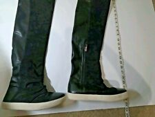 Carrano Womens Black Long Boots/Shoes Size 7