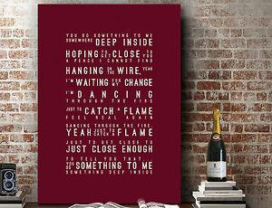 Paul Weller You Do Something To Me | Art SONG LYRICS GIFT | Art Print or Canvas