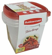 Rubbermaid 1968425 Take Alongs Square 7-Cup Food Storage Container (Pack of 3)