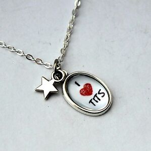 I <3 T*TS Pendant Necklace - Sweary Pendants NOT for the easily offended! Funny