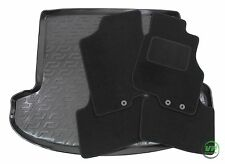KIA CEED Cee'D SW ESTATE 2007-2012 Tailored black floor car mats + boot tray mat