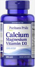 Puritan's Pride Calcium Magnesium Vitamin D3 120 Caplets Supports Strong Bones