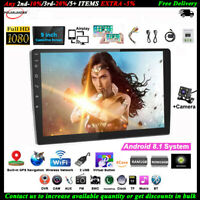 9''2 Din Android GPS Autoradio+CAM Wifi BT Airplay iOS Lien Miroir Tactile FM