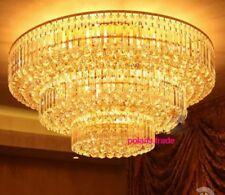 60/80/100cm Modern GOLD LED Crystal Ceiling Light Restaurant Lobby Pendant Lamp