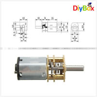 300RPM Micro Speed Reduction Gear Motor DC 12V With Metal Gearbox Wheel D