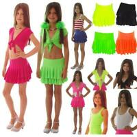 NEON  RARA SKIRT SHRUG TOP GIRLS tutu  80'S FANCY DRESS KIDS