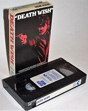 Vintage 1980 Death Wish VHS Video Cassette - Charles Bronson