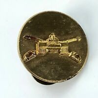 Vintage US Tank BATTALION Division Military Pin Crossed Swords