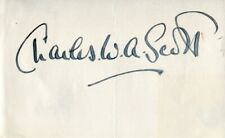 1934 London to Melbourne air race winner & aviator C.W.A Scott signed piece