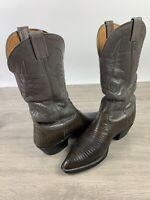 Nocona Texas Two Tone Gray Teju Lizard Men's Boots 8.5 D
