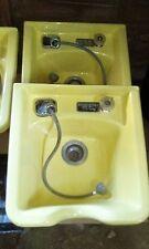 bd52de06921f Vintage YELLOW Belvedere FLO TEMP Porcelain Shampoo Bowl Salon