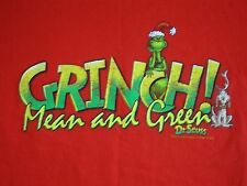 The Grinch Who Stole Christmas Dr. Seuss Movie Book Cartoon Red T Shirt L