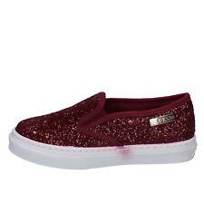 scarpe donna GUESS 36 EU slip on / mocassini bordeaux glitter BY944-36