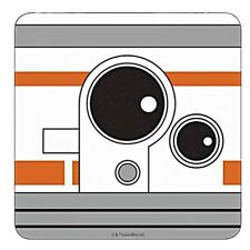 Genuine Star Wars BB8 Single Coaster Drinks Mat Fighter Badge Retro Droid BB-8