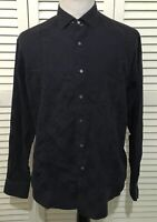 Robert Graham Men's Long Sleeve Dress Shirt Blue Dice Graphic Size XL