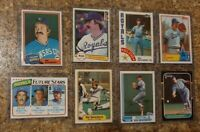 (8) Dan Quisenberry 1980 Topps Rookie + 1980's Fleer Donruss Card Lot RC Royals
