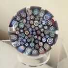 Vintage Scottish John Deacons JD Cane End of Day Millefiori Glass Paperweight