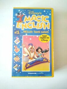 MAGIC ENGLISH N. 1 HELLO : TANTI SALUTI VHS ottimo DISNEY 1996