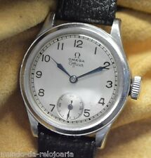 OMEGA OFFICER / OFFICERS Vintage 1943 WWII STEEL WATCH cal.26.5SOB THE REAL ONE!