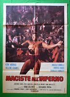 M21 Manifesto 2F Maciste All'Inferno Riccardo Freda Kirk Morris Chanel Stille