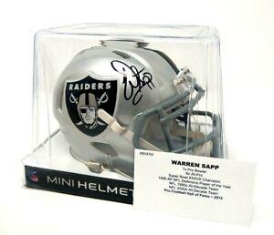 2020 Tri-Star Autographed Mini-Helmet WARREN SAPP #99 Oakland Raiders COA