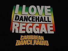 REGGAE Dance MUSIC Radio Caribbean ISLAND Rasta T Shirt FREE Shipping sz Medium