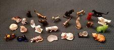 The Franklin mint lot de 27 chats cat porcelaine bronze verre collection