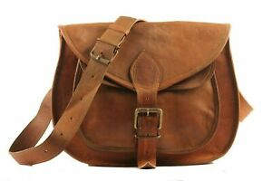 Women Hobo Cross Body Bag Purse Vintage Brown Leather Messenger  Handmade